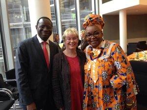 Alice Nkom, Gabriela Heinrich und Karamba Diaby