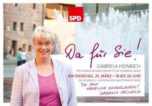 """Gabriela Heinrich ist """"Da für Sie!"""""""
