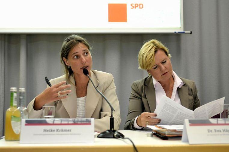 Heike Krämer und Eva Högl