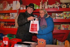 Christkindlesmarkt Nürnberg Stand der Diakonie
