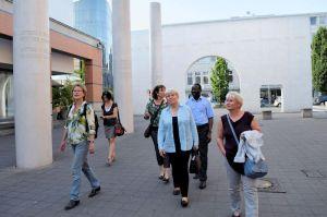 Inge Klostermeier (Referentin), Angelika Glöckner, Martina Mittenhuber (Leiterin Menschenrechtsbüro), Doris Barnett, Karamba Diaby, Gabriela Heinrich