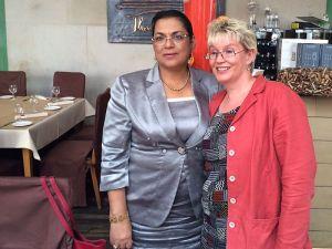 Aussenministerin Madagaskar und Gabriela Heinrich
