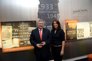 Karl-Bröger-Haus Ausstellung mit Martin Burkert MdB und der Historikerin Kerstin Pommereit