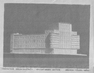Karl-Bröger-Haus Modell des Architekten vermutlich 1929