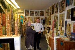 Bruno da Todi und Gabriela Heinrich im Atelier