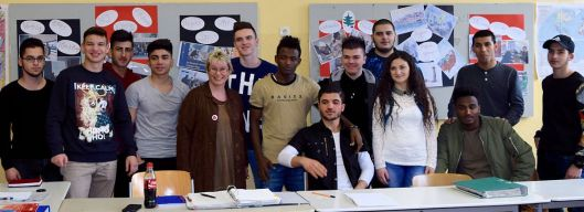 Besuch in einer Flüchtlingsklasse