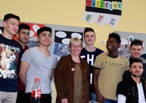 Besuch in der Flüchtlingsklasse an der Berufsschule 14 in Nürnberg