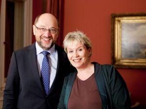 Gabriela Heinrich, Bundestagskandidatin für Nürnberg-Nord mit Martin Schulz