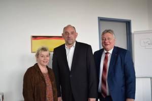 Gabriela Heinrich MdB, Detlef Scheele und Martin Burkert, MdB