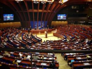 Das Plenum der Parlamentarischen Versammlung des Europarats in Strassburg